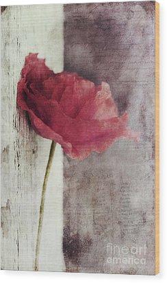 Decor Poppy Wood Print by Priska Wettstein