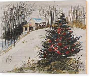 Decorated In The Snow Wood Print by John Williams