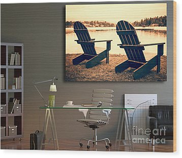 Decorating With Fine Art Photography Wood Print by Edward Fielding