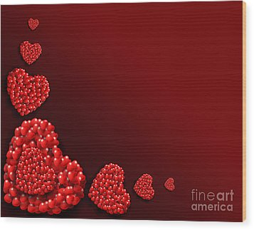 Decoration Of Heart Shaped Hearts Wood Print by Kiril Stanchev