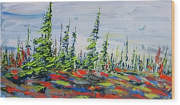 Decorative Churchill Tree Line Wood Print
