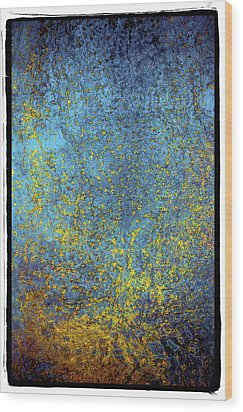 Wood Print featuring the photograph Deep Blue Steel Abstract Nine by Craig Perry-Ollila