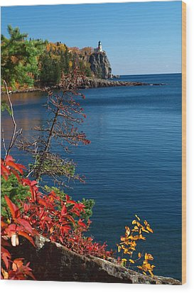 Deep Blue Superior Wood Print by James Peterson