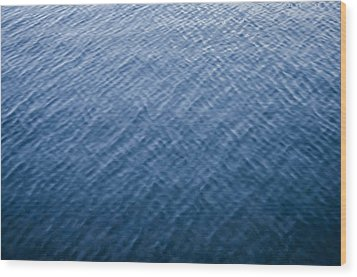 Deep Blue Water Wood Print