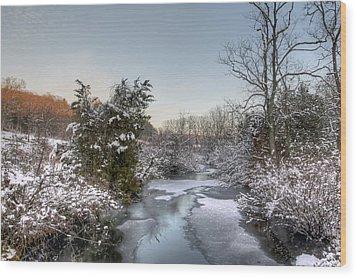 Deep Creek At Green Lane Reservoir - Pennsylvania Usa Wood Print by Mother Nature