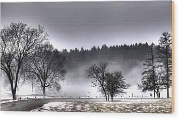 Deep Fog Over Marmo Wood Print