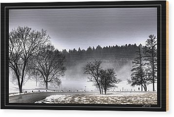 Deep Fog Over Marmo   Framed Wood Print
