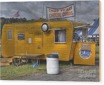 Deep Fried Cheese Curds Wood Print