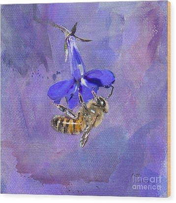Deep In Purple Wood Print by Betty LaRue