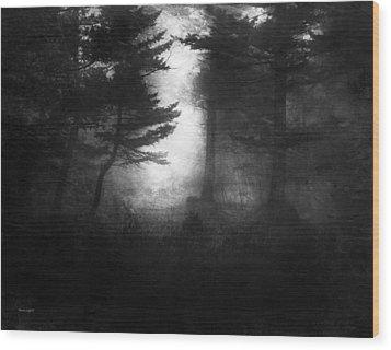 Deep In The Dark Woods Wood Print by Theresa Tahara