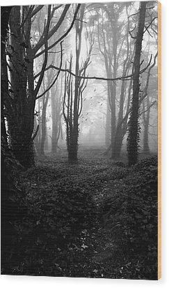 Deep In The Florest Wood Print by Jorge Maia
