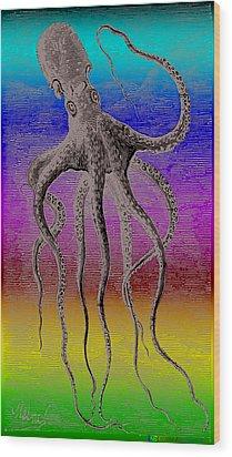 Deep Monster Wood Print by Eric Edelman