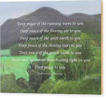 Deep Peace With Ct River Valley Wood Print