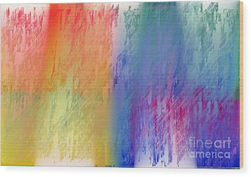Deep Rich Sherbet Abstract Wood Print by Andee Design