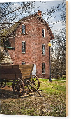 Deep River Wood's Grist Mill And Wagon Wood Print by Paul Velgos