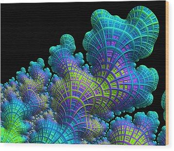Deep Sea Coral Wood Print