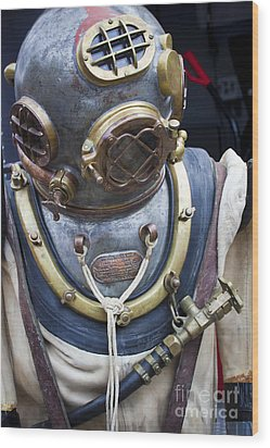 Deep Sea Diving Gear Wood Print by Chris Dutton