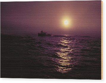 Deep Sea Fishing Off West Port Wa II Wood Print