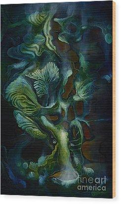 Deep Sea Within Wood Print