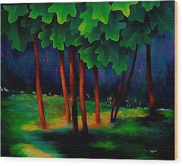 Deep Shadows Wood Print