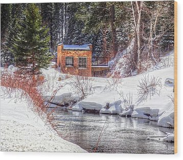 Deep Snow In Spearfish Canyon Wood Print