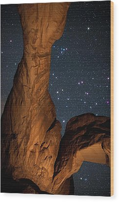 Deep Space Spectacle From Double Arch Wood Print by Mike Berenson