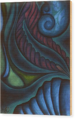 Wood Print featuring the pastel Deep by Susan Will