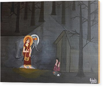 Deepavali Night Wood Print by Pratyasha Nithin
