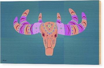 Deer 3 Wood Print by Mark Ashkenazi