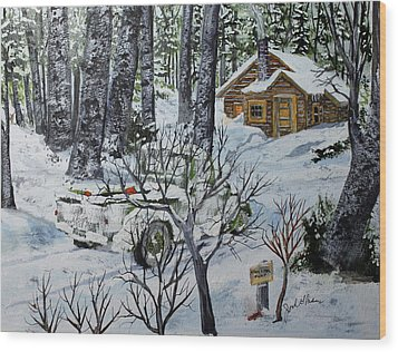 Deer Camp 141114 Wood Print by Jack G  Brauer