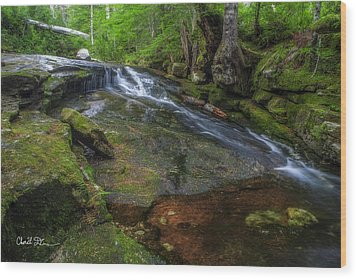 Deer Creek Wood Print