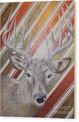 Deer Deco Wood Print by PainterArtist FINs husband
