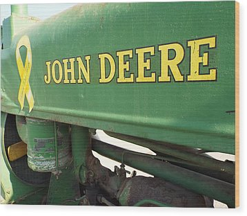 Deere Support Wood Print