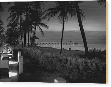 Deerfield Beach Wood Print by Louis Ferreira