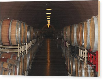 Deerfield Ranch Winery 5d22218 Wood Print by Wingsdomain Art and Photography