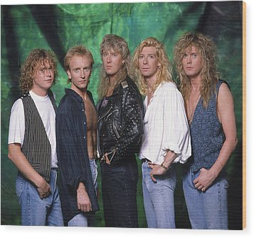 Def Leppard - 15 Months Of Rock 1987 Wood Print by Epic Rights