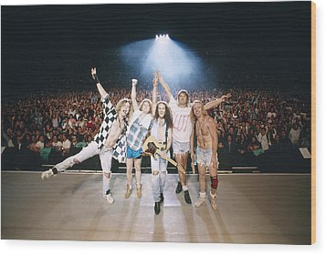 Def Leppard - Adrenalize Tour 1992 - On Stage Wood Print by Epic Rights