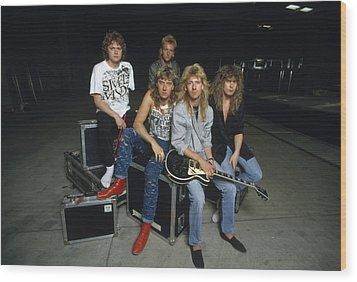 Def Leppard - Equipment & Gear 1987 Wood Print by Epic Rights