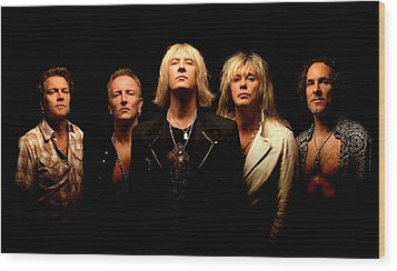 Def Leppard - Sparkle Lounge Tour 2008 Wood Print by Epic Rights