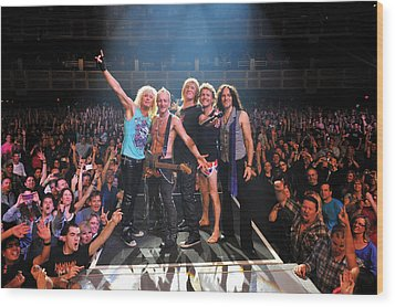 Def Leppard - Viva! Hysteria At The Hard Rock 2013 Wood Print by Epic Rights