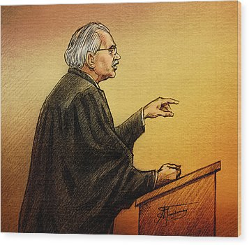 Defence Lawyer Robert Nuttall Wood Print