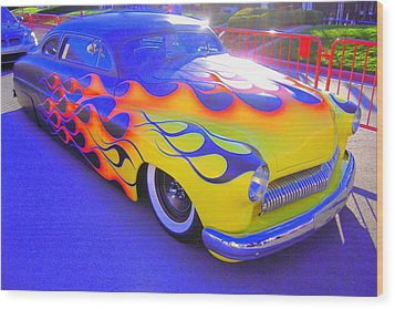 Definitely A Hot Rod Wood Print by Don Struke