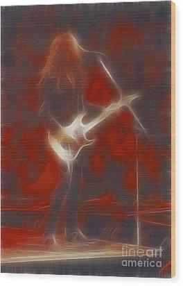 Deflep-adrenalize-vivian-ge11-fractal Wood Print by Gary Gingrich Galleries