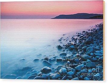 Deganwy Sunset Wood Print by Darren Wilkes