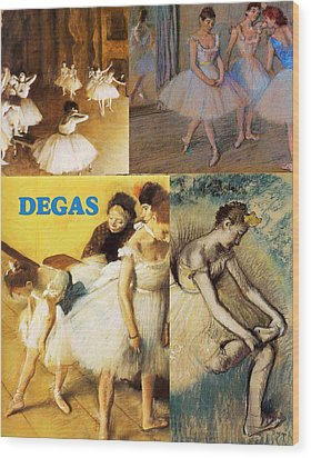Degas Collage Wood Print by Philip Ralley