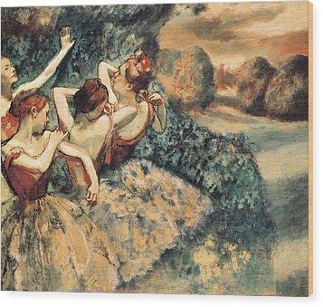 Degas, Edgar 1834-1917. Four Dancers Wood Print by Everett