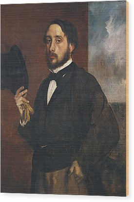 Degas, Edgar 1834-1917. Self-portrait Wood Print by Everett