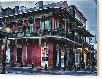 Deja Vu - Bourbon Street Wood Print by Bill Cannon