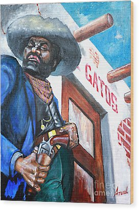 Del Gato's Place Wood Print by George Ameal Wilson