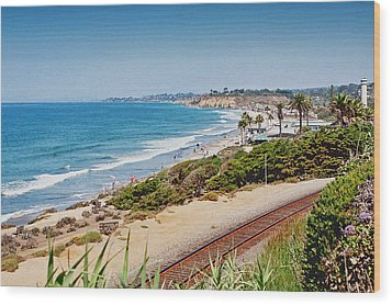 Del Mar Beach California Wood Print
